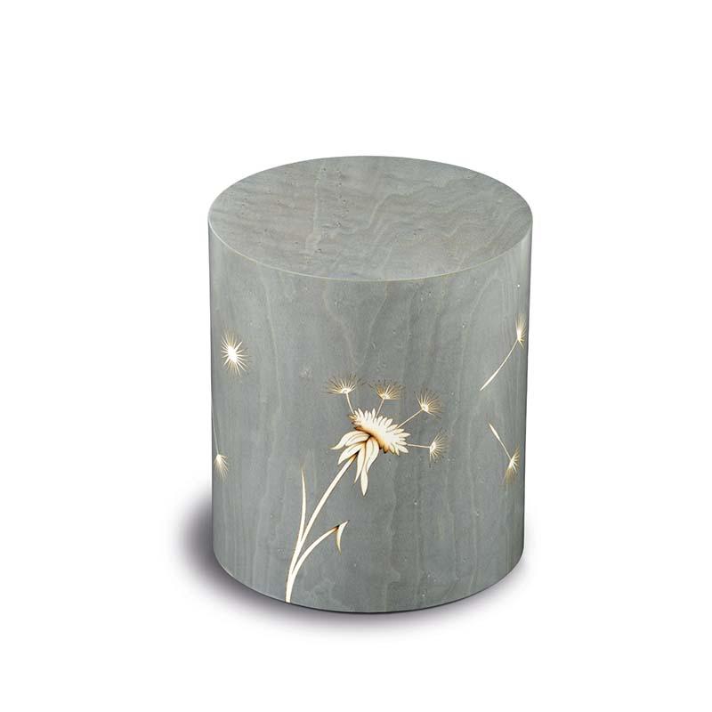 Cilinder Urn Columbarium Denti dei Leone Grigio (5 liter)