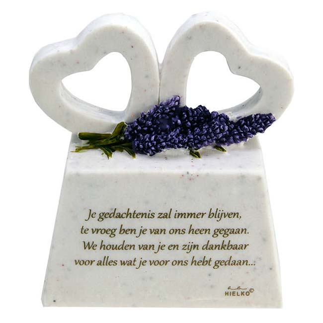 In Memoriam Gedenksteen Dankbaar, met Gedenkharten