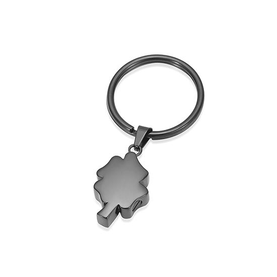 As-sleutelhanger Dieren Klaver-Zirkonia Inktzwart
