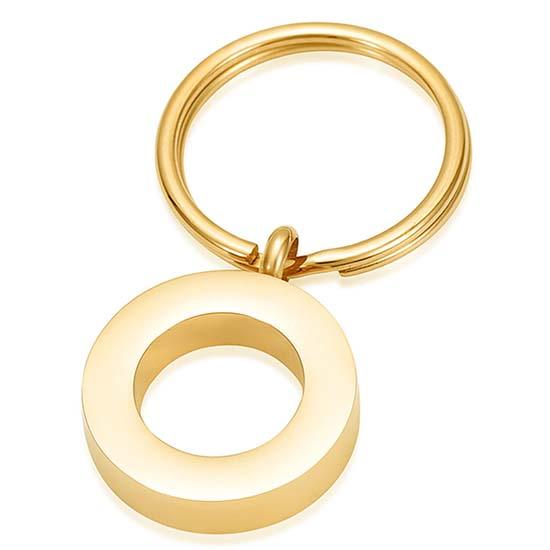 As-sleutelhanger Dieren Cirkel-Zirkonia Goud
