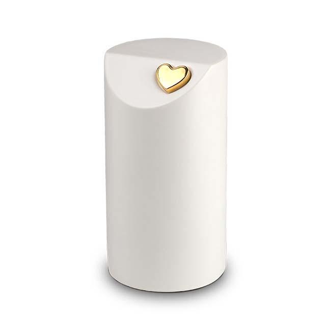 Grote Keramische Urn Matwit, gouden Hart (4.7 liter)