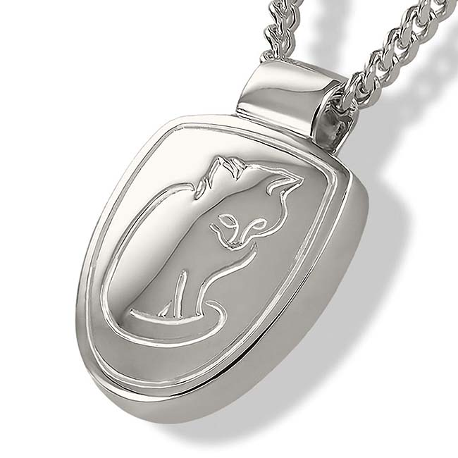 Zilveren Asmedaillon Verstild Katje