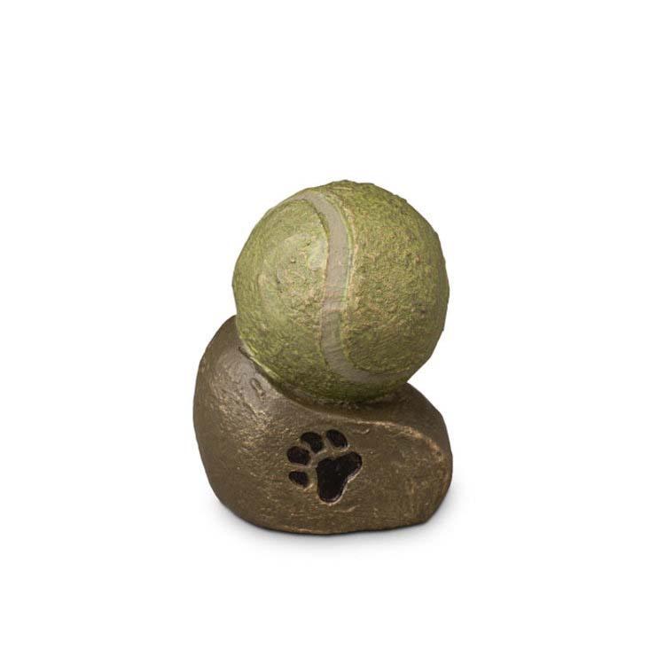 Keramische Miniurn Tennisbal Pootafdruk (0.1 liter)