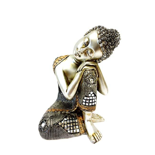 Kleine Buddha Dierenurn Slapende Indische Boeddha (0.4 liter)