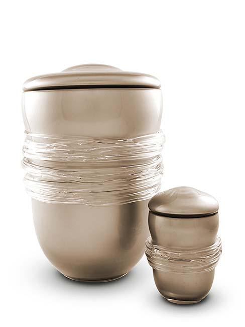 Kleine Boheems Kristalglazen Urn Wit (0.4 liter)