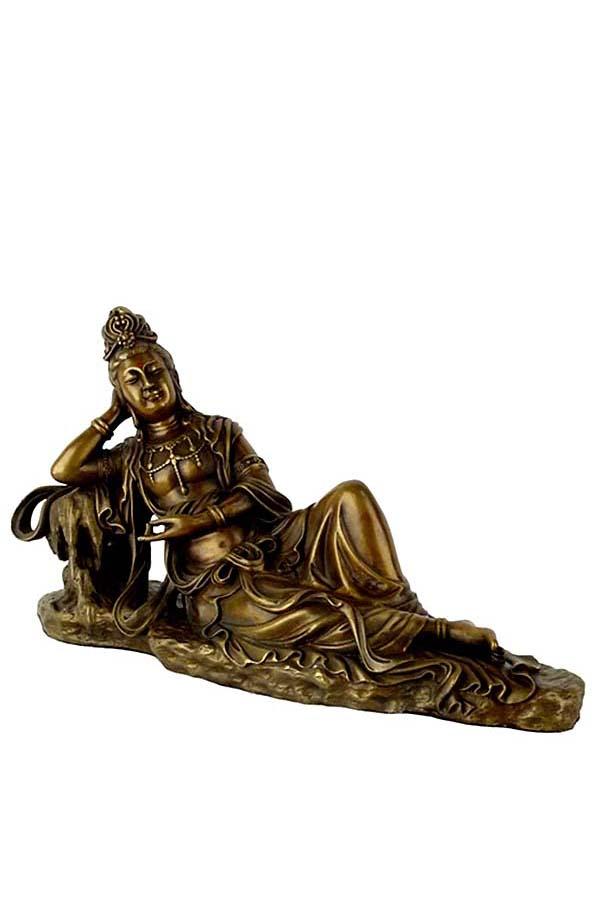 Kleine Vrouwelijke Buddha Urn Kwan Yin (0.5 liter)