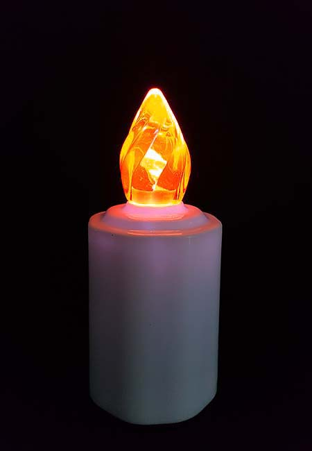 Waterdichte LED-Kaars, Orange Vlam
