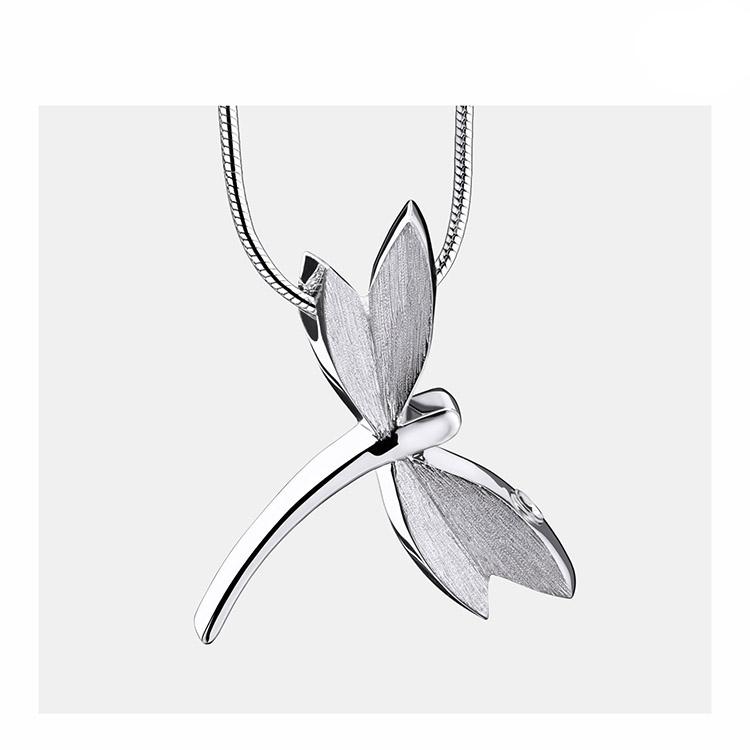 Ashanger Libelle Bicolour Zilver inclusief Collier