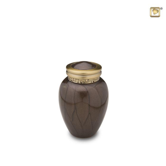 Mini Blessing Urn Bruinmarmer (0.1 liter)