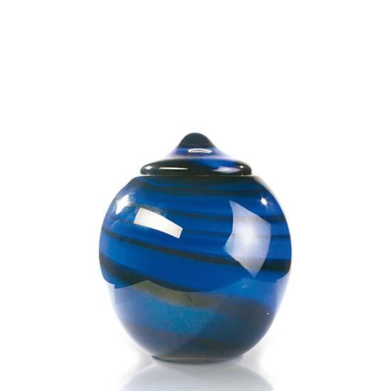 Middelgrote Glazen Urn Osiris Tweekleurig (2 liter)