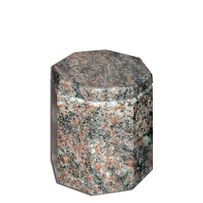 Granieten Miniurn, Achtkantig met Dito Deksel - Himalaya-Blue (0.1 liter)