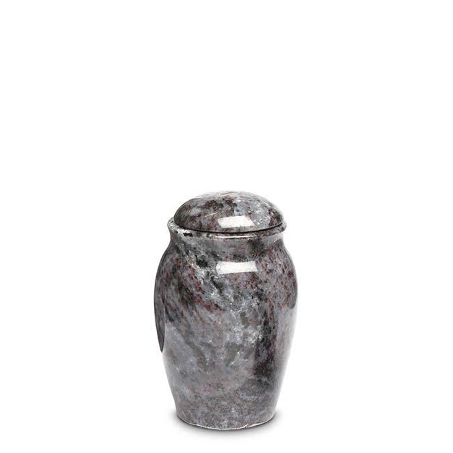 Granieten Miniurn Vaas, Rond met Deksel - Marlin (0.1 liter)