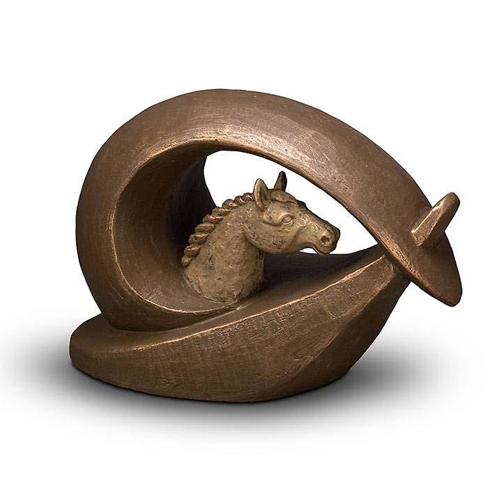 Keramische Paarden Urn Eeuwige Slaap (4 liter)