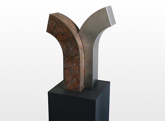 RVS en Bronzen Duo Urn Asbeeld (4.5 en 5 liter)