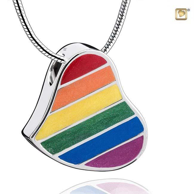 Ashanger Pride Regenbooghart inclusief Collier