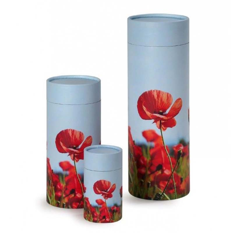 Grote Bio Eco Urn of As-strooikoker Klaproos (3.8 liter)