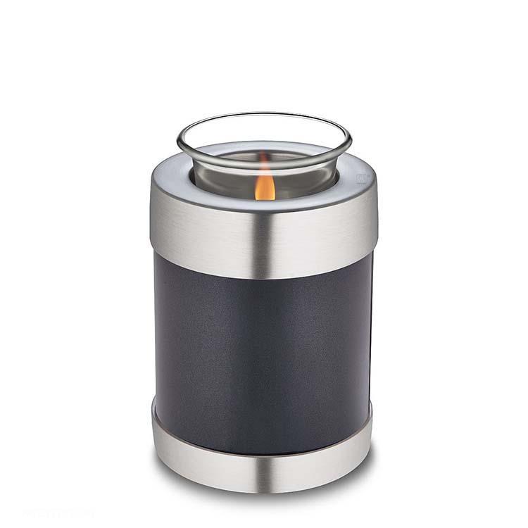 Urn met Waxinelichtje Grijs Metallic (0.45 liter)