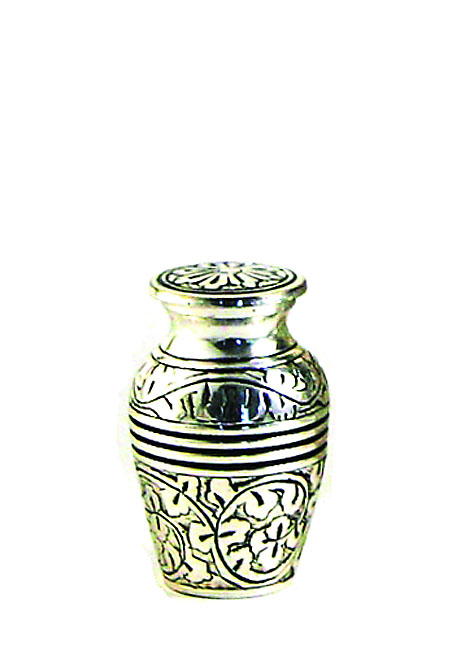 Oak Antique Silver Mini Urn (0.08 liter)