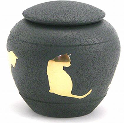 Silhouette Cat Shale Katten Urn (0.5 liter)