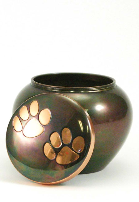 Classic Copper Raku Dierenurn Medium (0.65 liter)