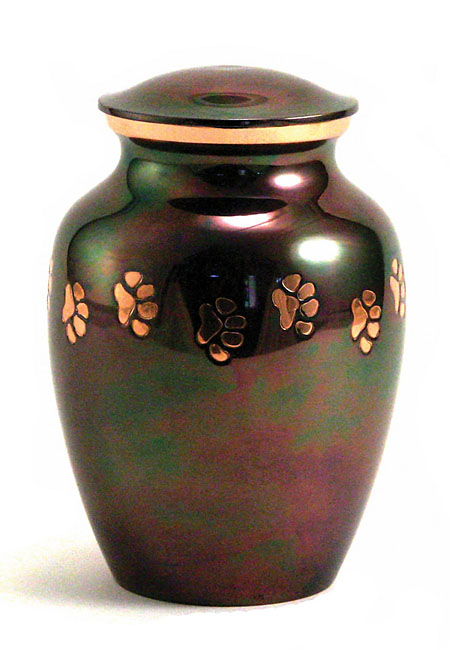 Classic Copper Raku Dierenurn Medium (0.7 liter)