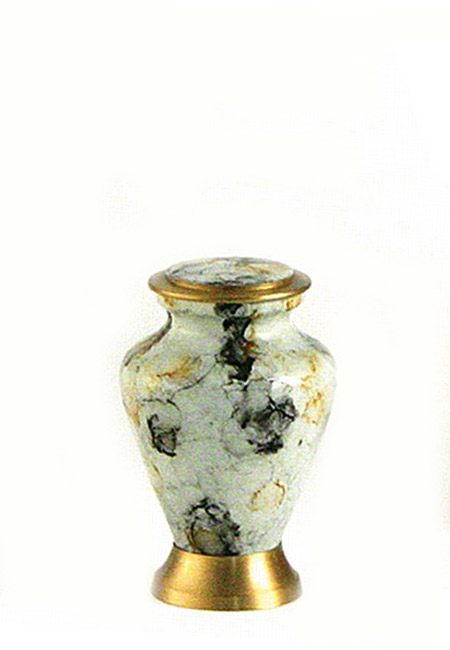 Glenwood White Marble Mini Urn (0.08 liter)