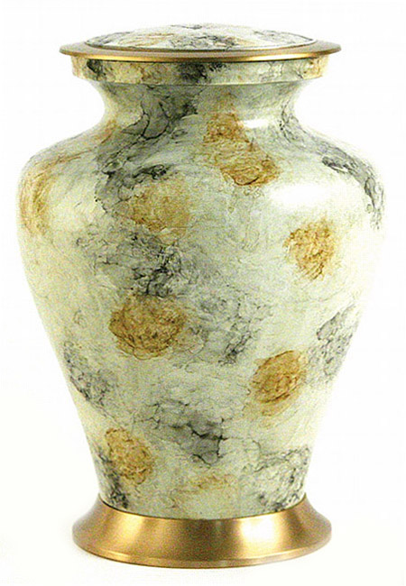 Grote Messing Glenwood White Marble Urn (3.3 liter)
