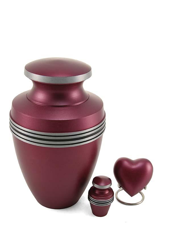 Grecian Magenta Hart Urn (0.1 liter)