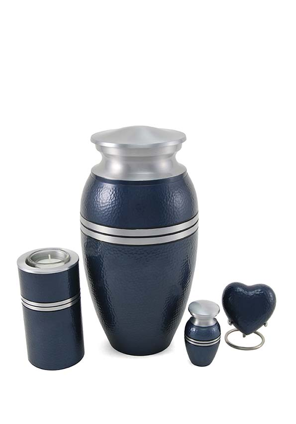 Legacy Metallics Blue Hart Urn (0.1 liter)