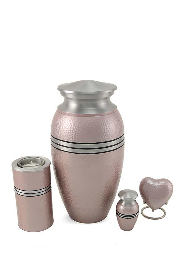 Urn met Waxinelichtje Metallic Pink (0.35 liter)