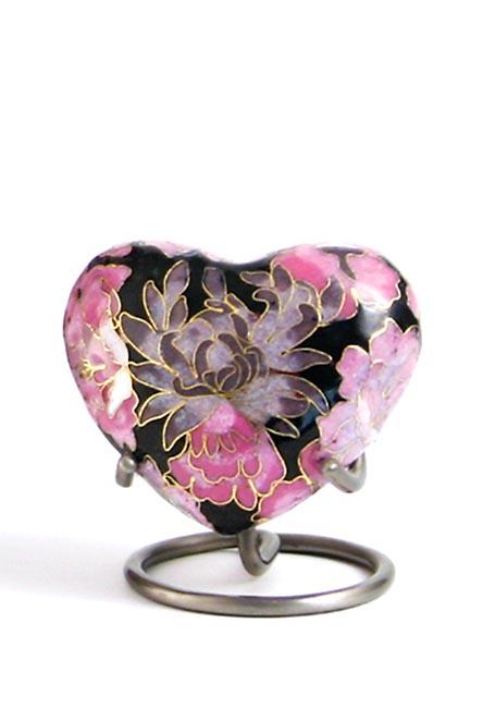 Elite Floral Blush Cloisonne Hart Urn (0.11 liter)