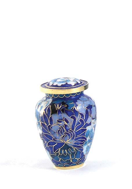Elite Floral Blue Cloisonne mini Urn (0.11 liter)