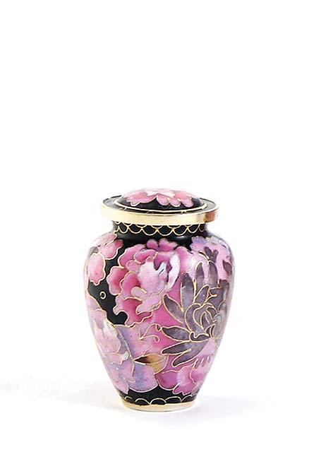 Elite Floral Blush Cloisonne mini Urn (0.11 liter)