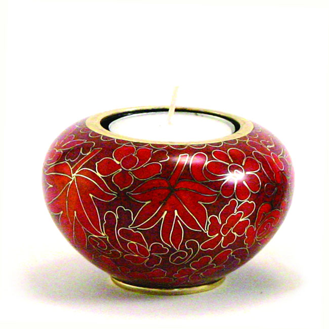 Autumn Leaves Cloisonne Memory Light Dierenurn (0.11 l.)