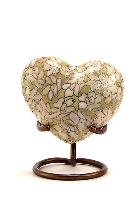 Essence Opal Cloisonne Hart Urn (0.11 liter)