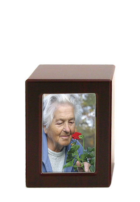 Houten Photobox Urn Kers (0.8 liter)