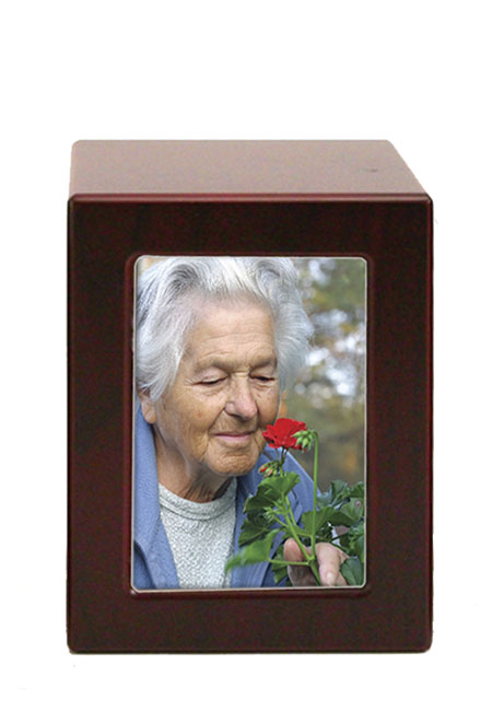 Houten Photobox Urn Kers (1.5 liter)