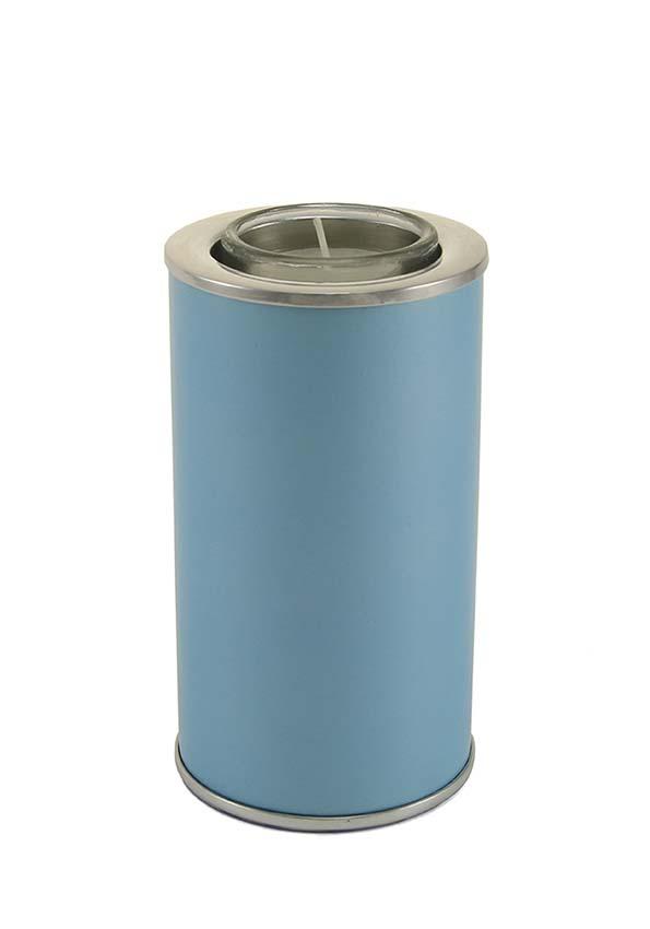 Urn met Waxinelichtje Pearl Blue (0.35 liter)