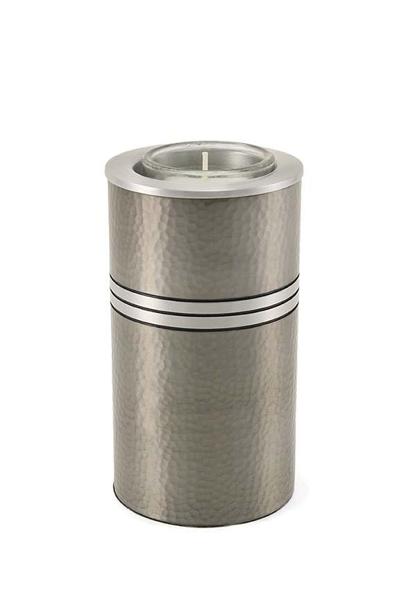 Urn met Waxinelichtje Metallic Silver (0.35 liter)