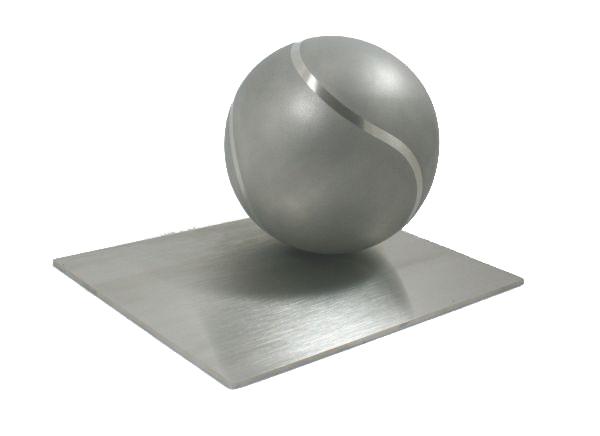RVS Tennisbal Dieren Urn (1.5 liter)