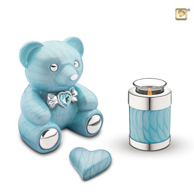 LoveUrns Kinder Urn Blauwe Teddybeer (1.15 liter)