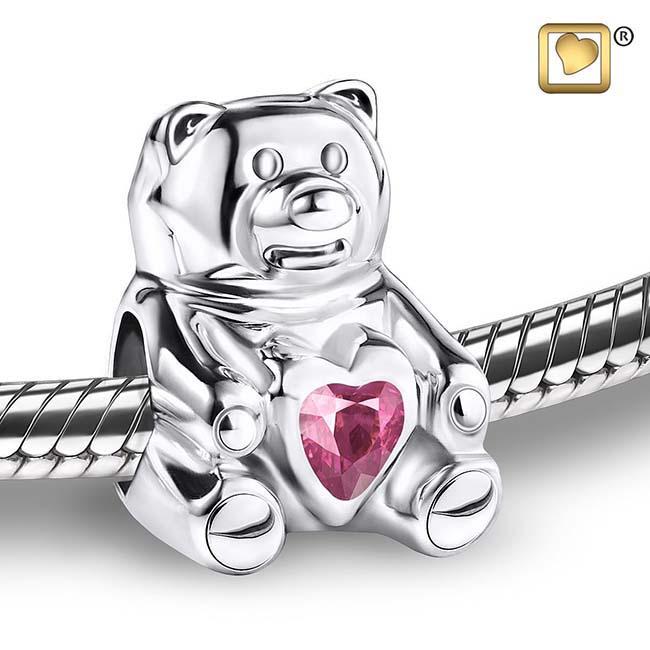 Askraal Teddybeer Roze Kristal