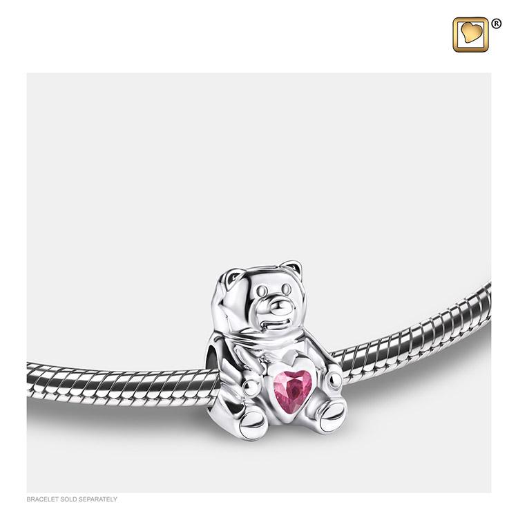 LoveUrns Askraal Teddybeer Roze Kristal