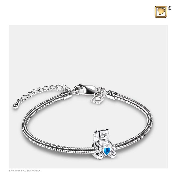 Askraal Teddybeer Blauw Kristal