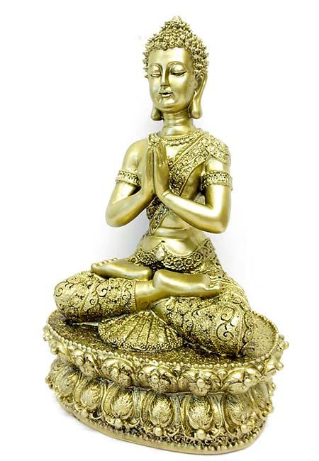 Tibetaanse Meditatie Boeddha Dierenurn Goud  (1.5 liter)