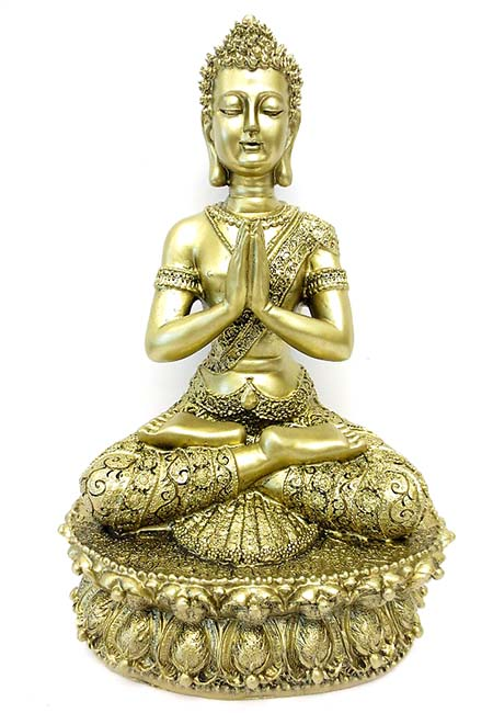 Tibetaanse Meditatie Boeddha Urn Goud  (1.5 liter)