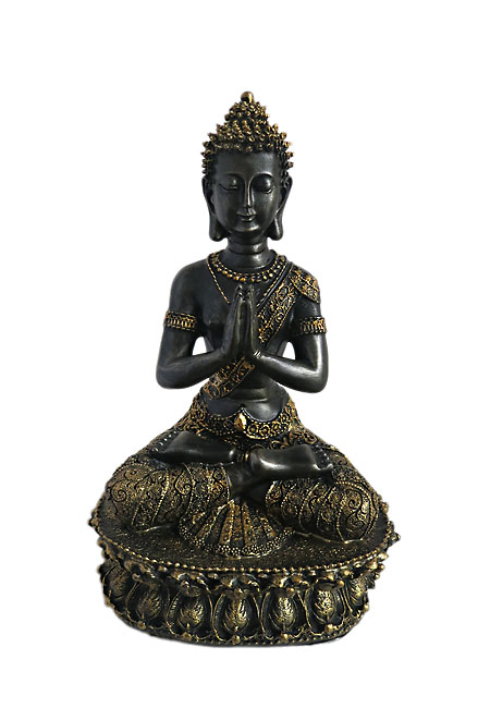 Tibetaanse Meditatie Boeddha Urn Blackgold (1.5 liter)