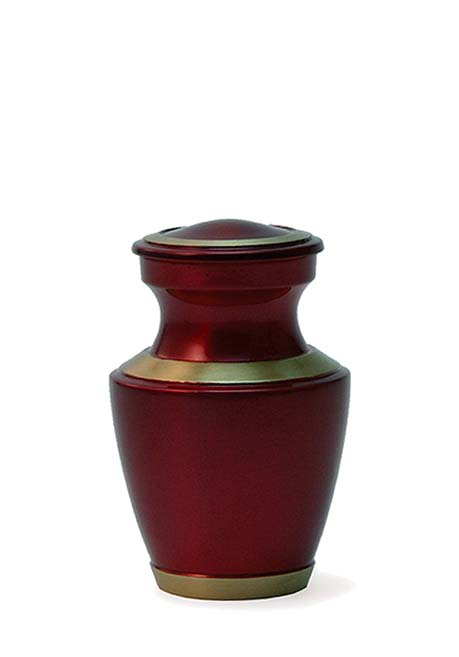 Trinity Crimson Dark Red Mini Urn (0.08 liter)