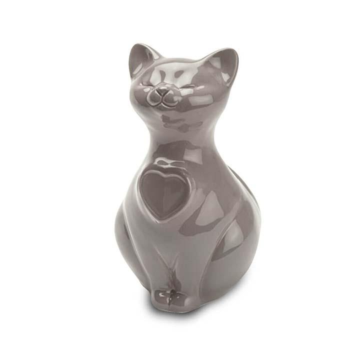 Kattenurn of Asbeeld Kat Hartje Grijs (0.8 liter)