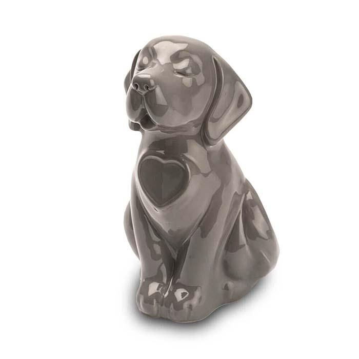 Hondenurn of Asbeeld Hond Hartje Bruin (0.8 liter)